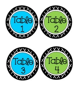 Chevron CAFE plus bonus table tags