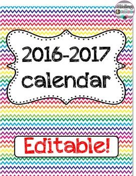 Chevron Calendar Book {editable}