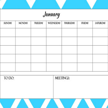 Chevron Calendar Bundle Color and Black/White for Special Educators