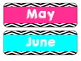 Chevron Calendar Bundle Set