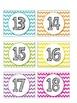 Chevron Calendar Coverup Number Cards