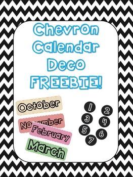 Chevron Calendar Decorations