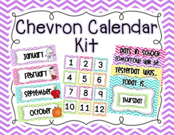 Chevron Calendar Kit