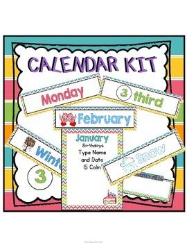 Chevron Calendar Kit
