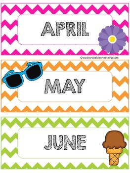 Chevron Calendar Month Headers
