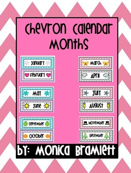 Chevron Calendar Months