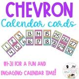 Chevron Calendar Numbers 1-31