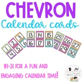 Chevron Calendar Numbers 1-31