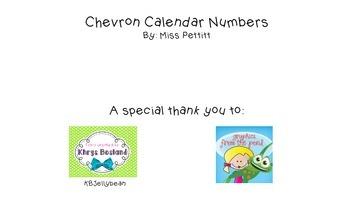 Chevron Calendar Numbers