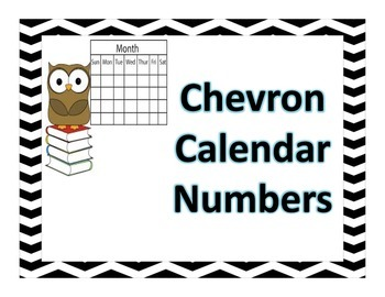 Chevron Calendar Numbers
