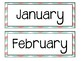 Chevron Calendar Numbers, Months and Days of the week!