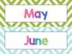 Chevron Calendar Pack