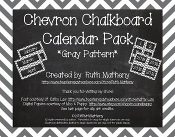 Chevron Calendar Pack - Gray