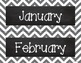 Chevron Calendar Pack - Gray