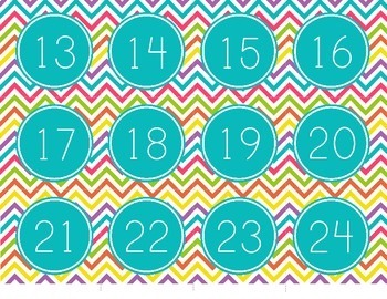 Chevron Calendar Pack - Numbers, Months, Days of the Week, and more