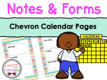 Chevron Calendar Pages