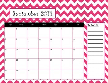 Chevron Calendar September