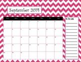 Chevron Calendar September