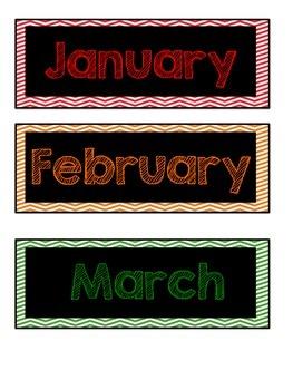 Chevron Calendar Set