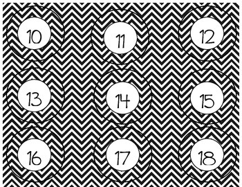 Chevron Calendar Set