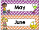 Chevron Calendar Set (Stitched Chevron)-Classroom Decor