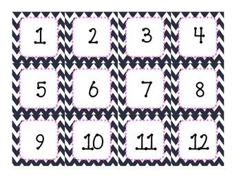 Chevron Calendar Tags