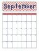 Chevron Calendar for the 2013-2014 School Year