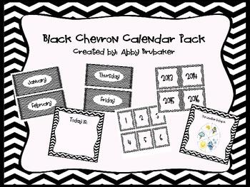 Chevron Calendar pack in Black