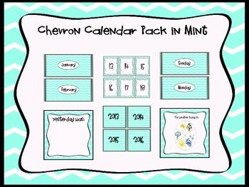 Chevron Calendar pack in Mint