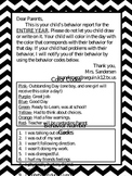 Chevron Calendar w/ Behavior 2013 - 2014
