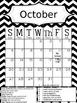 Chevron Calendar w/ Behavior 2013 - 2014