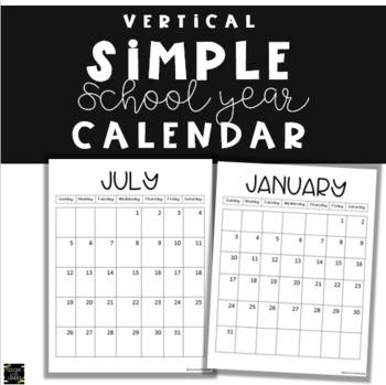 Vertical Chevron 2018-2019 Calendar