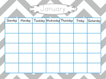 Calendar Templates With Traceable Months {Chevron}