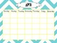 Calendar Templates With Traceable Months {Chevron}