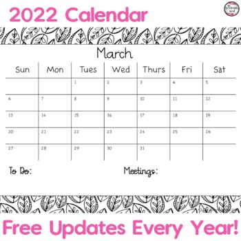 Chevron Calendars for Special Educators, Editable Color Calendars