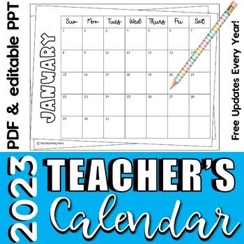Calendars for Special Education Teachers  {Editable Color Chevron}