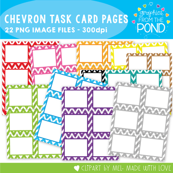 Task Card Pages - Chevron - Clipart for Teachers and Classrooms