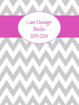 Chevron Case Manager Binder Cover