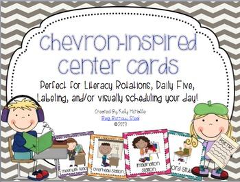 Chevron Center Cards
