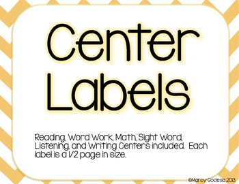 {Chevron} Center Labels