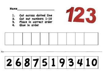Number Sort (cut and paste)