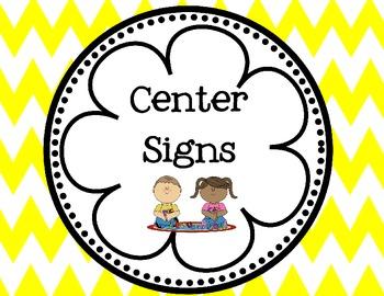 Chevron Center Signs (6 Color Choices)