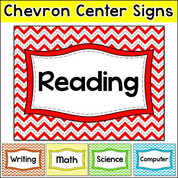 Chevron Theme Centers Signs