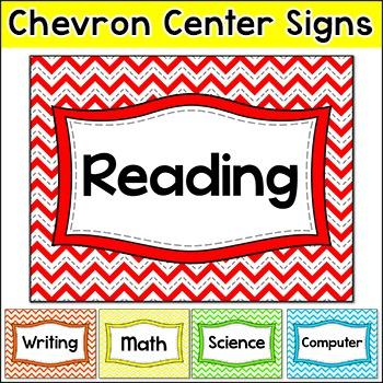 Chevron Theme Centers Signs
