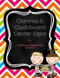 Chevron & ChalkBoard Center Signs