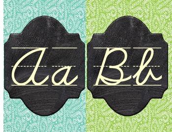 Patterned Chalkboard Alphabet