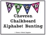 Chevron Chalkboard Alphabet Bunting Neon