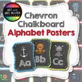 Chevron Chalkboard Alphabet Posters