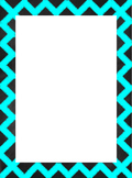 Chevron Chalkboard Border Set {Personal & Commercial Use}