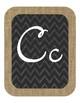 Chevron Chalkboard Alphabet